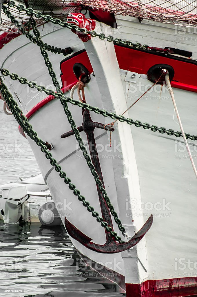 Bow of an old Sailing Ship stock photo