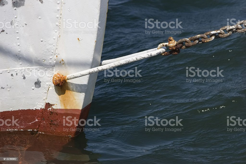 Bow of an old ship royalty-free stock photo
