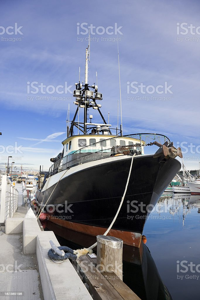 Bow of Bering Sea Crabbing Boat royalty-free stock photo