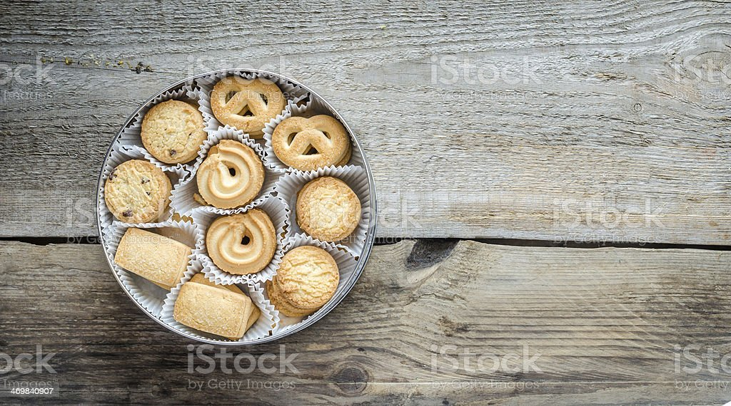 Bow of butter cookies stock photo