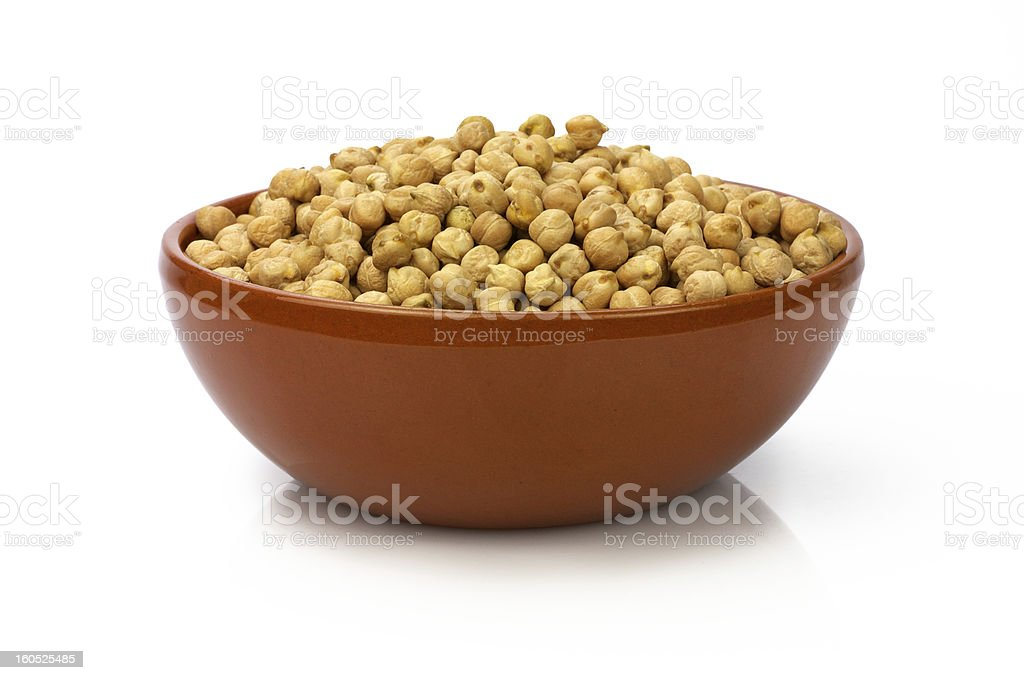 Bow of chickpeas royalty-free stock photo