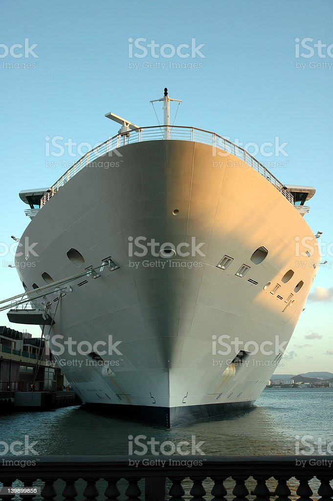 bow of cruise ship stock photo