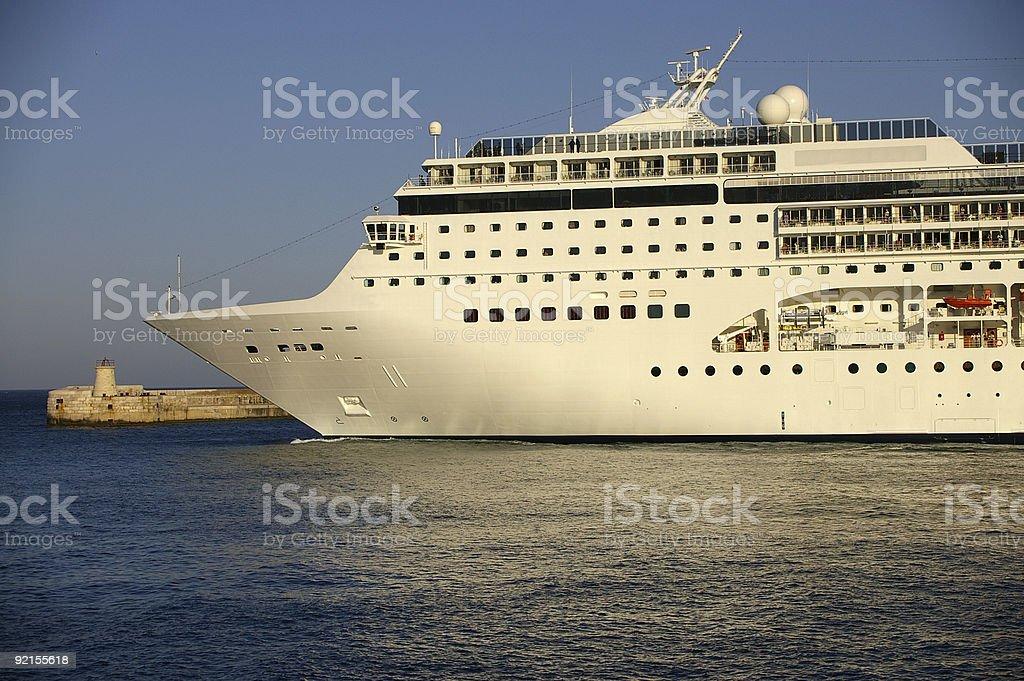 Bow of cruise ship royalty-free stock photo