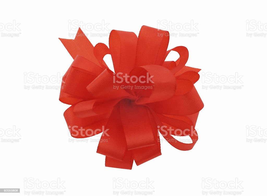 bow on pure white background royalty-free stock photo