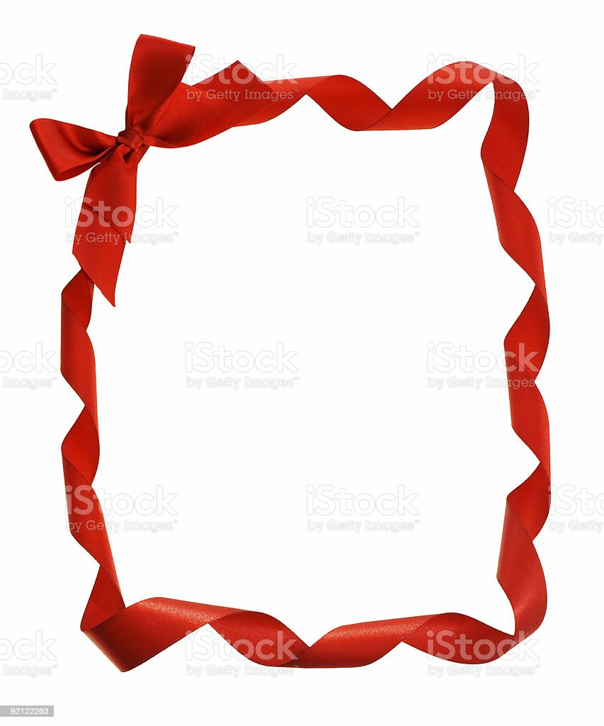 Bow ribbons border and copy space stock photo
