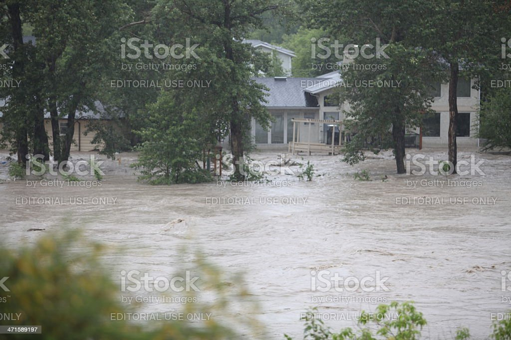 Bow River flood royalty-free stock photo