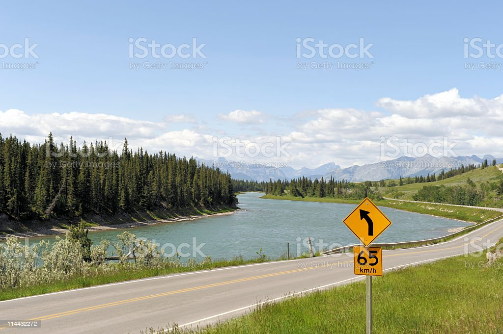 Bow River royalty-free stock photo