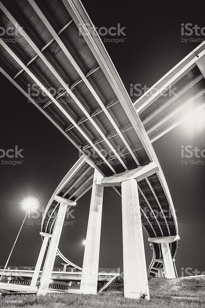 Bow Shaped Highway Bridge stock photo