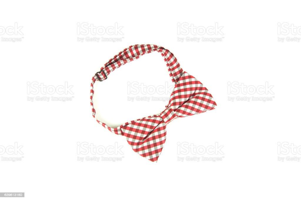 Bow tie on white background stock photo