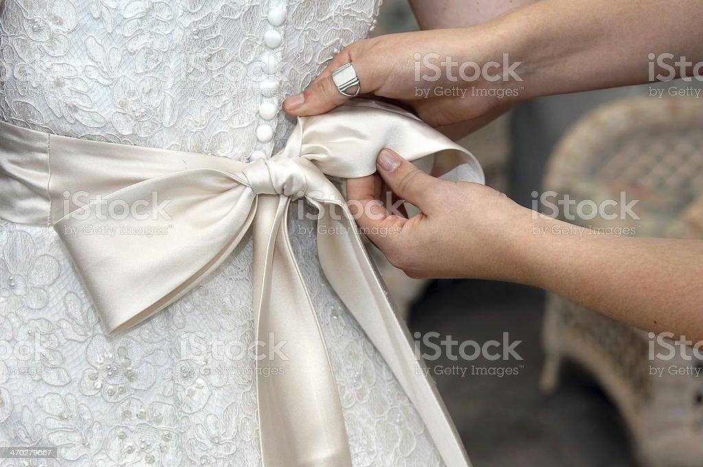 Bow Tying stock photo
