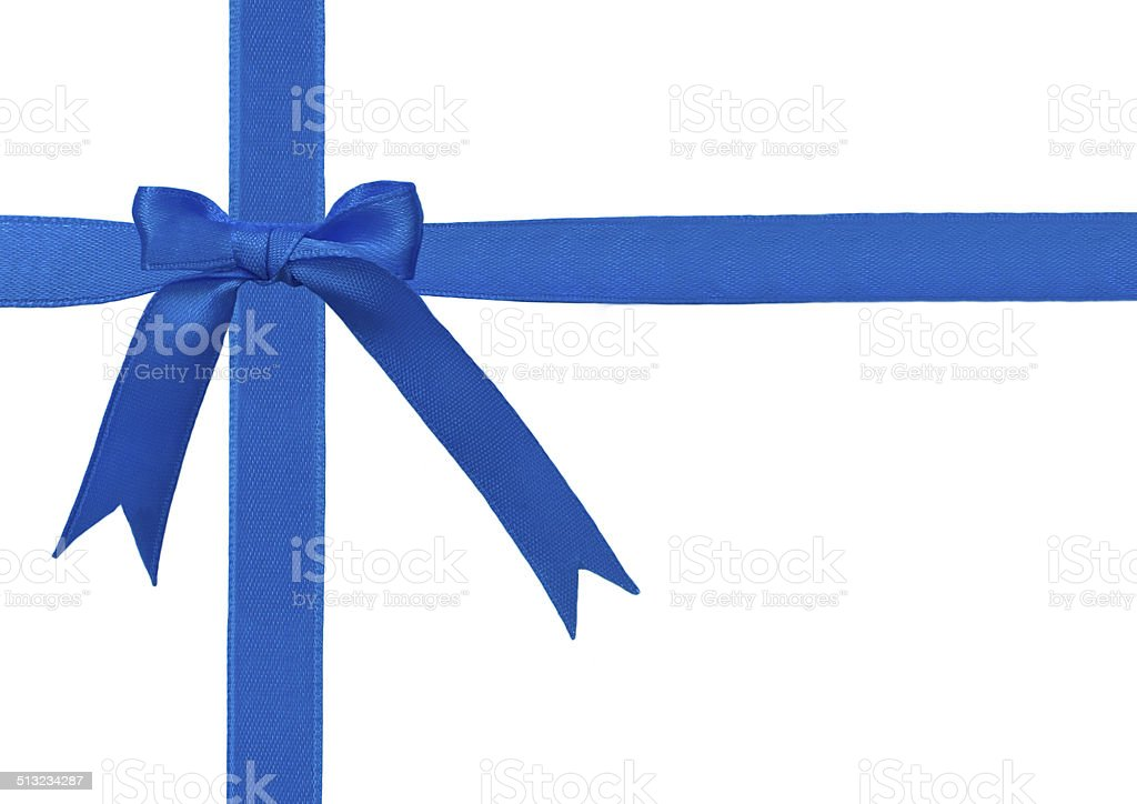 Bow with ribbons stock photo