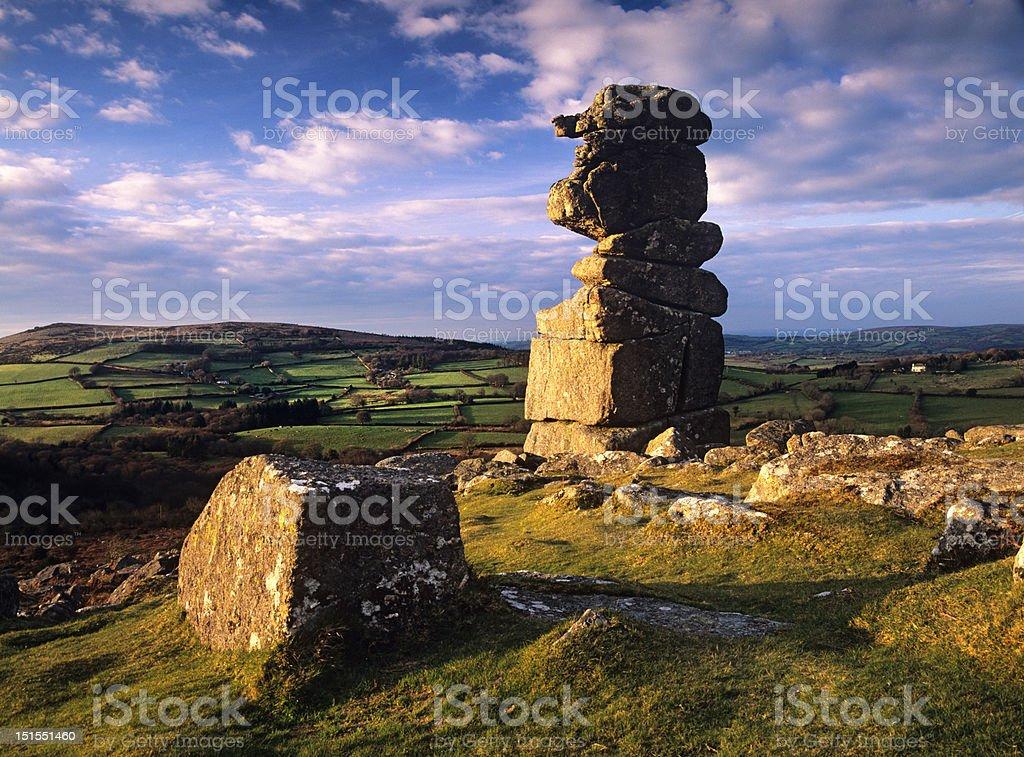Bowerman's nose rock stack, Dartmoor stock photo
