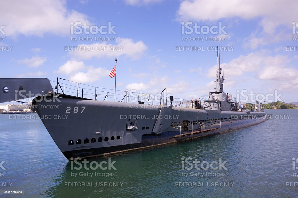 USS Bowfin at Pearl Harbor, HI stock photo