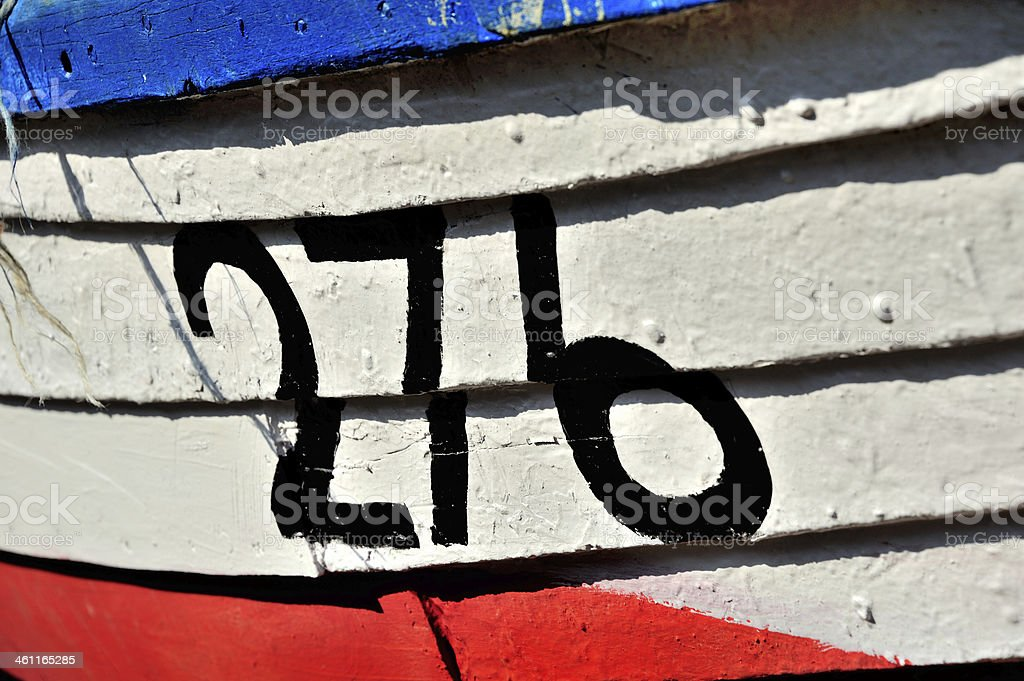 Bow/front of old fishing boat stock photo