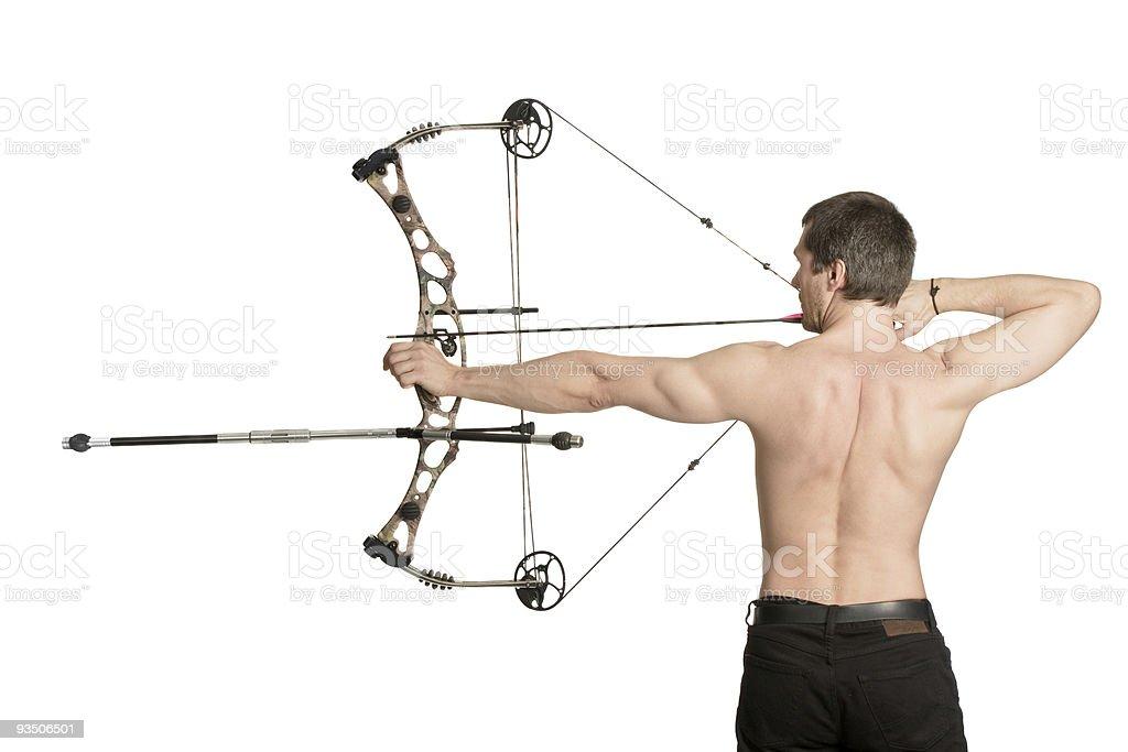 bow-hunter royalty-free stock photo