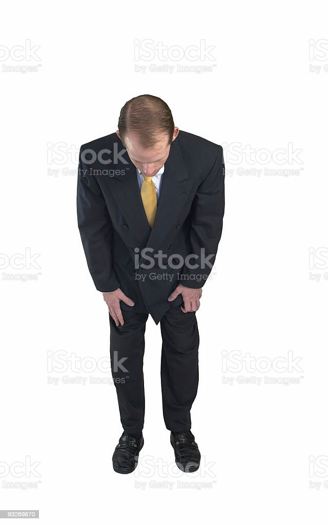 Bowing Businessman #1 royalty-free stock photo