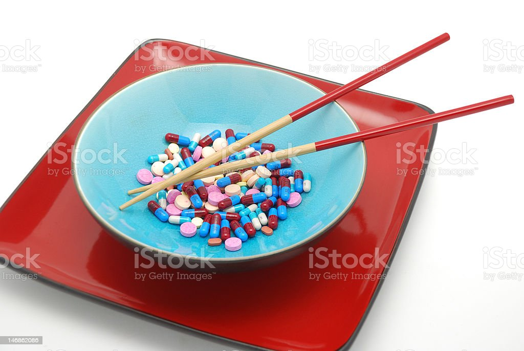 Bowl and chopsticks 2 royalty-free stock photo