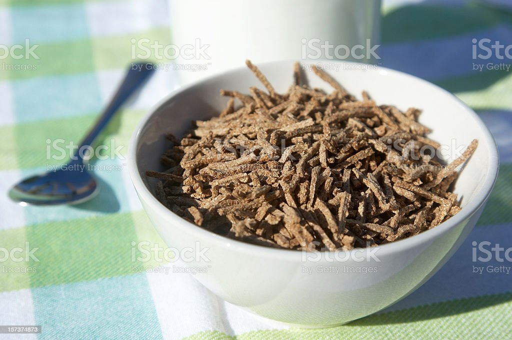 Bowl bran sticks cereal stock photo