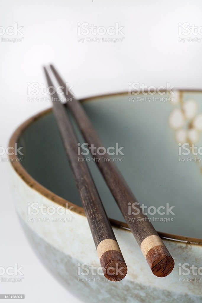 Bowl & Chopsticks royalty-free stock photo