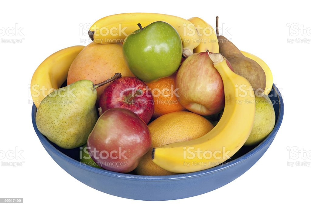 A bowl filled with different fruit stock photo