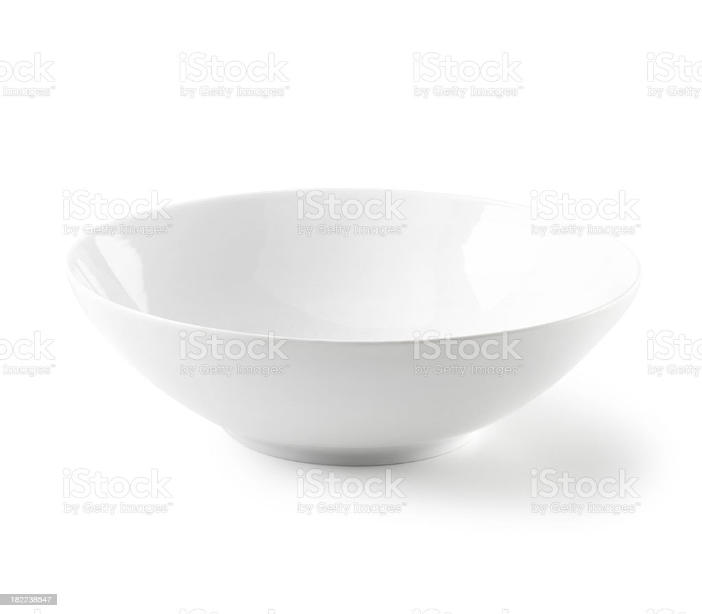 Bowl flat white and empty royalty-free stock photo