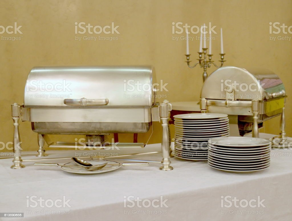 Bowl for food heating stock photo