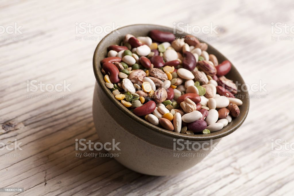 Bowl full of different beans royalty-free stock photo