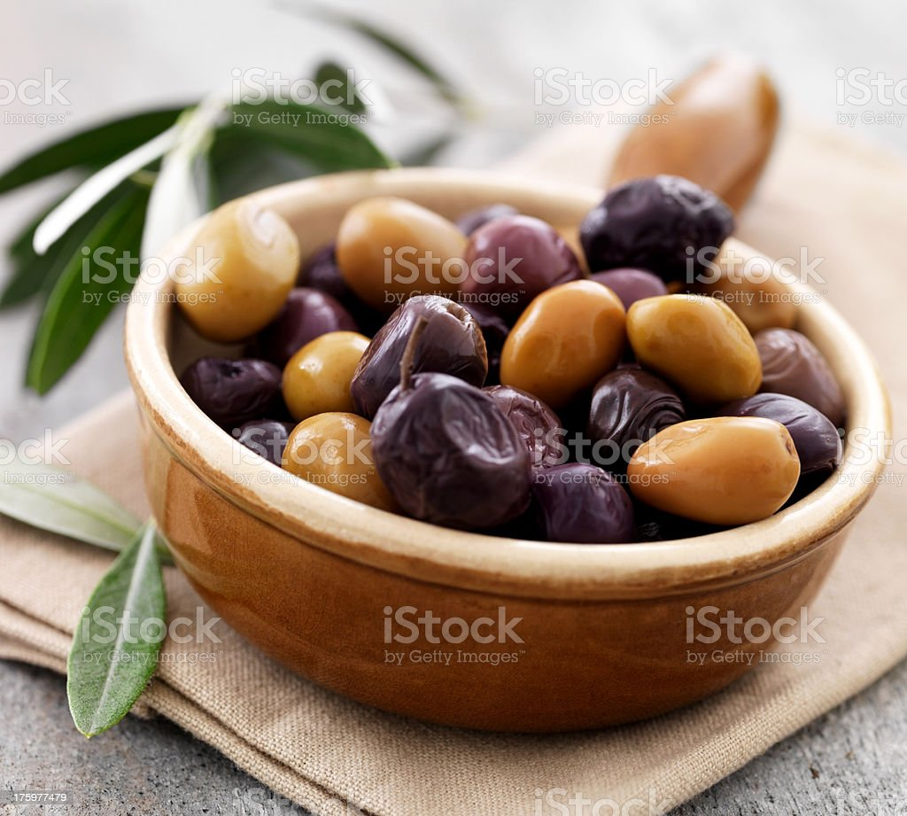 Bowl full of fresh olives royalty-free stock photo