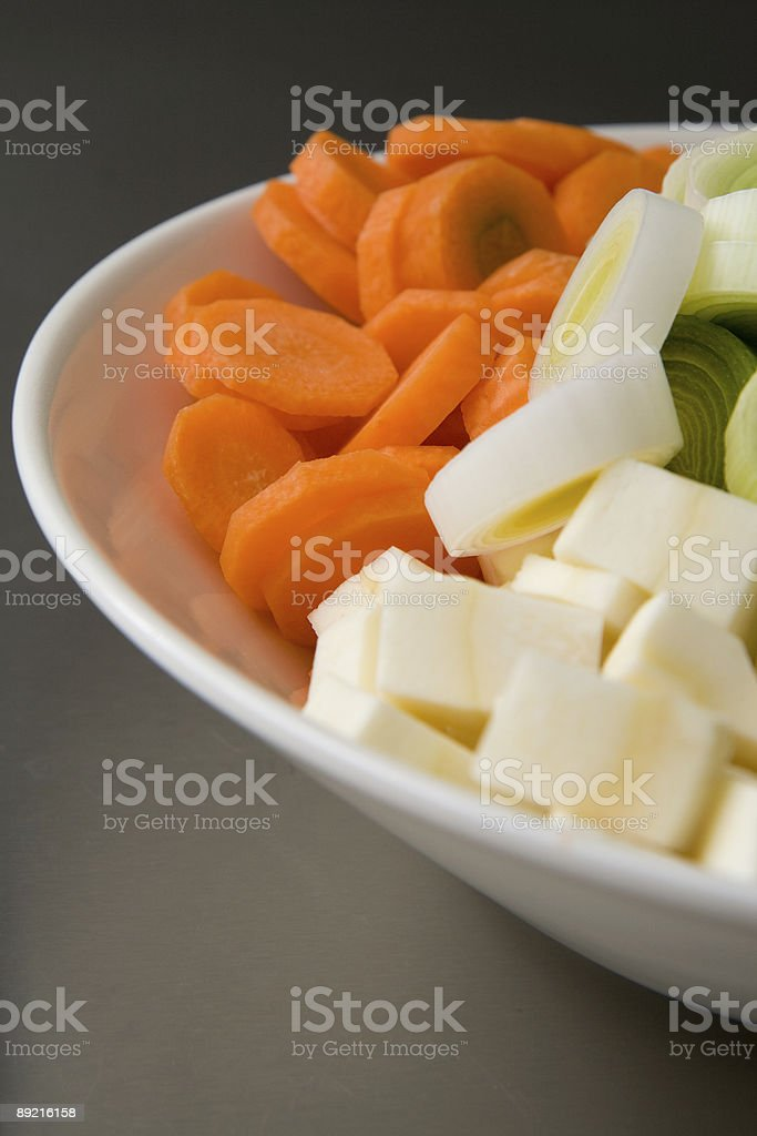 Bowl full of vegetables royalty-free stock photo