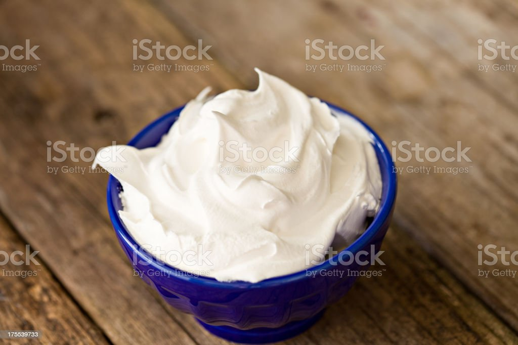 Bowl Full Of Whipped Cream royalty-free stock photo