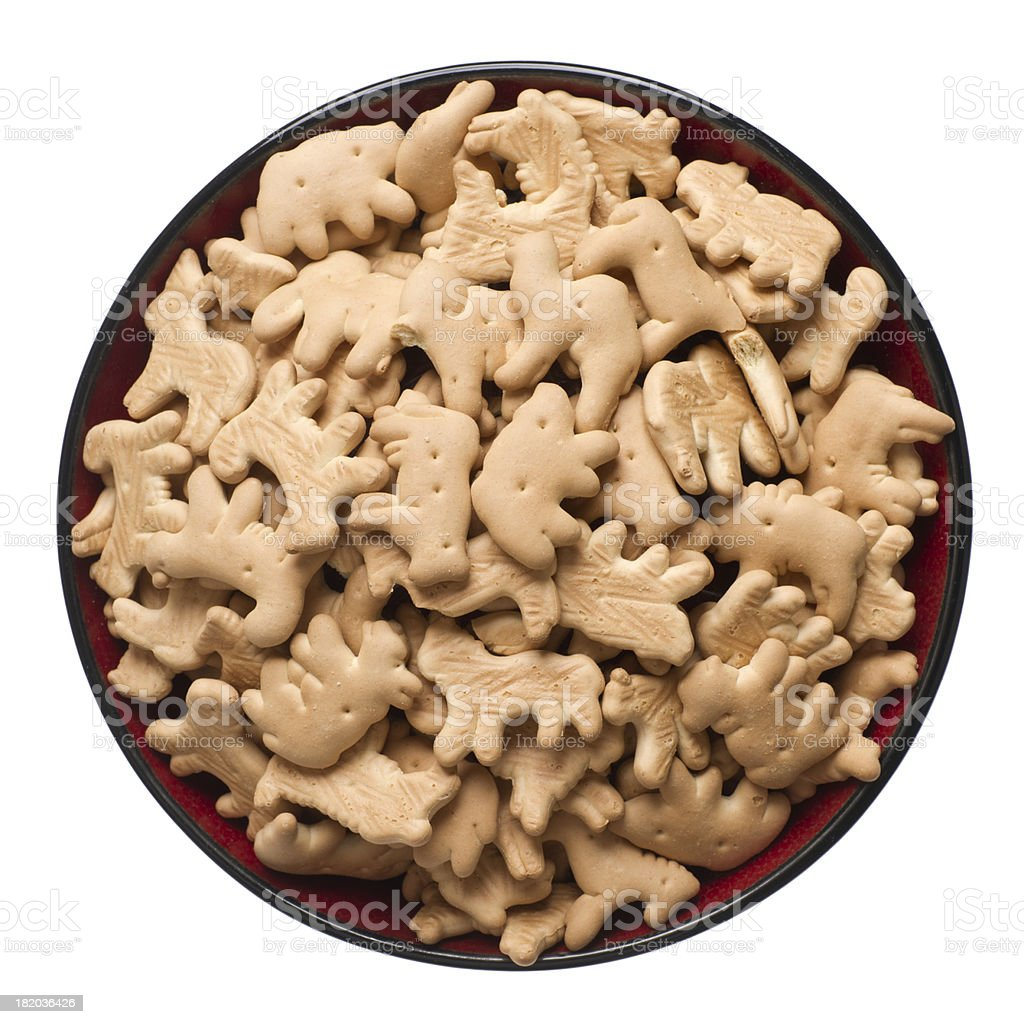 Bowl of Animal Crackers stock photo