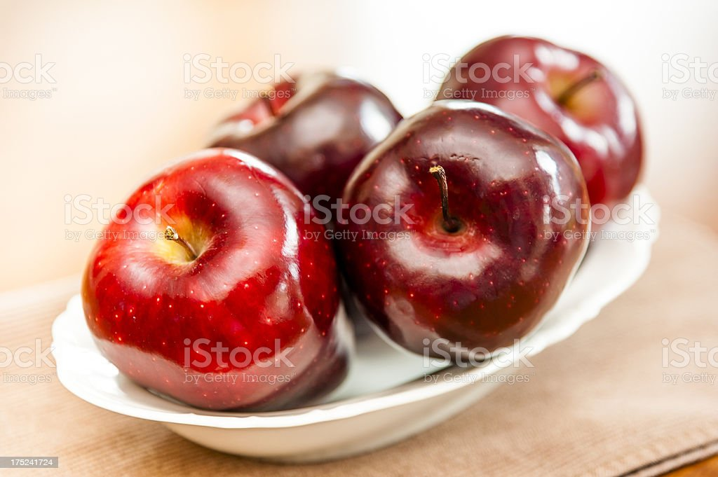 Bowl of Apples royalty-free stock photo