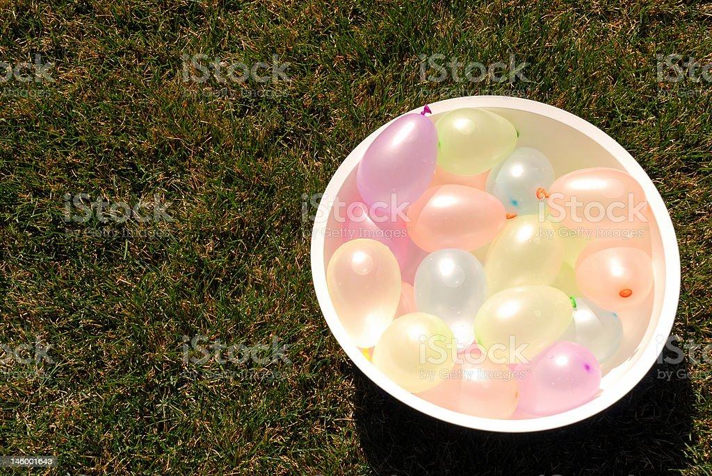 Bowl of Balloons stock photo