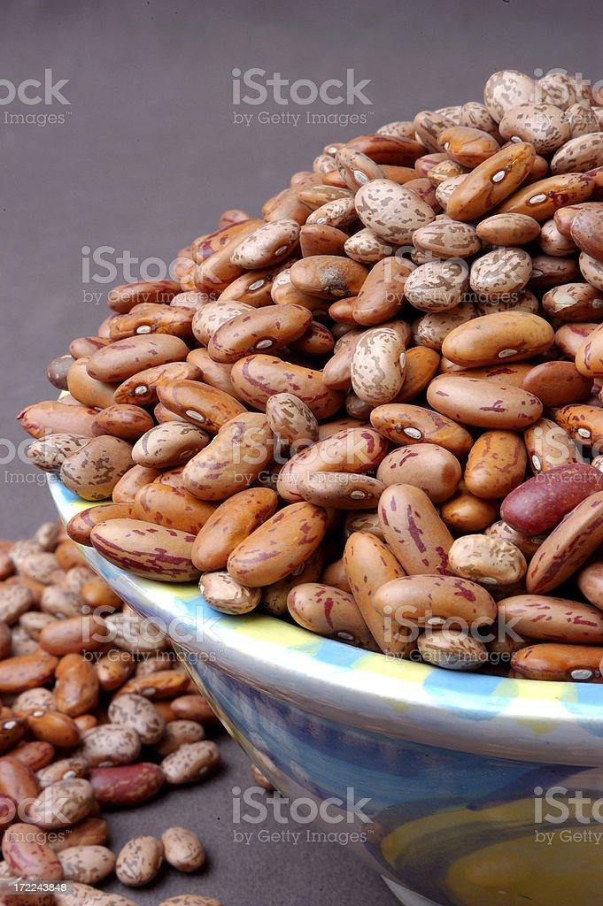 Bowl of bayo beans royalty-free stock photo