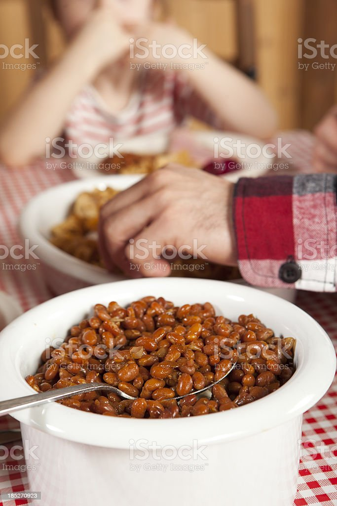 Bowl of beans royalty-free stock photo