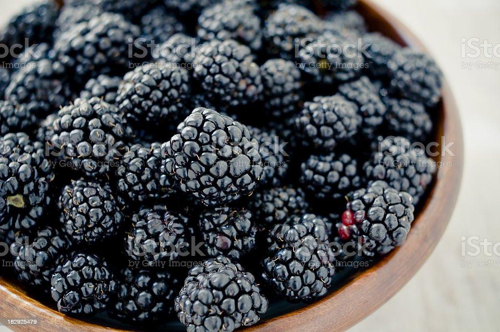 Bowl of blackberry royalty-free stock photo