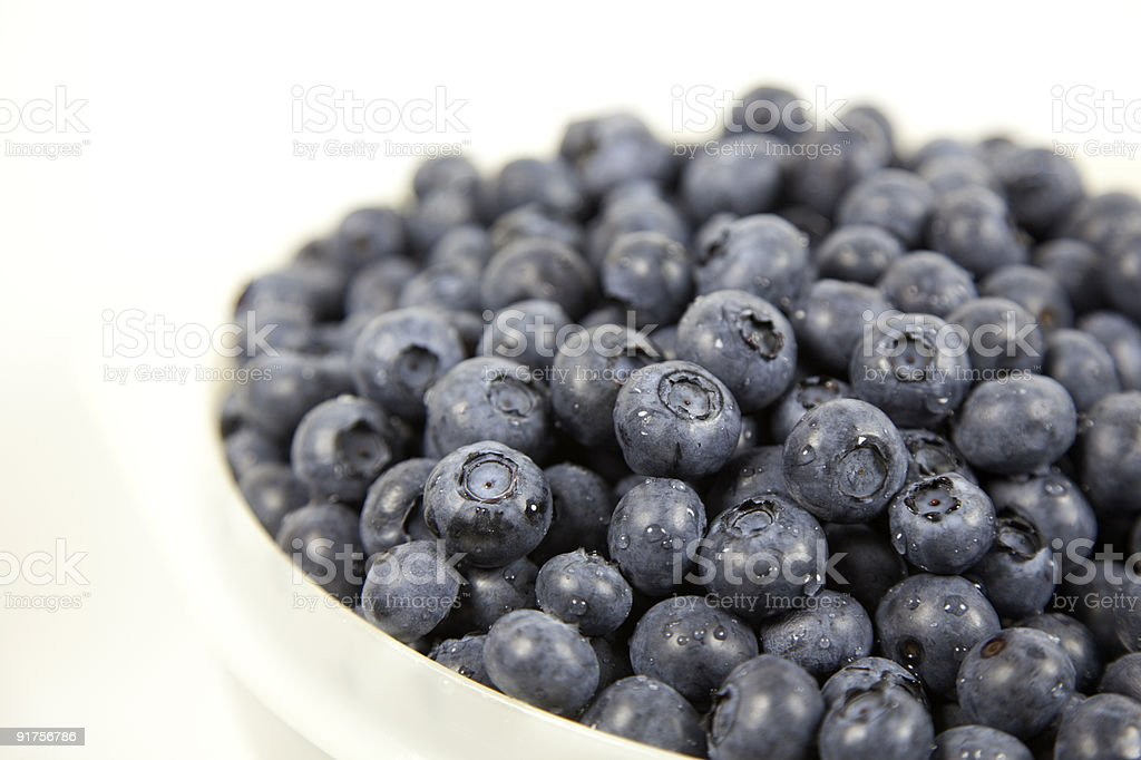 Bowl of Blueberries royalty-free stock photo
