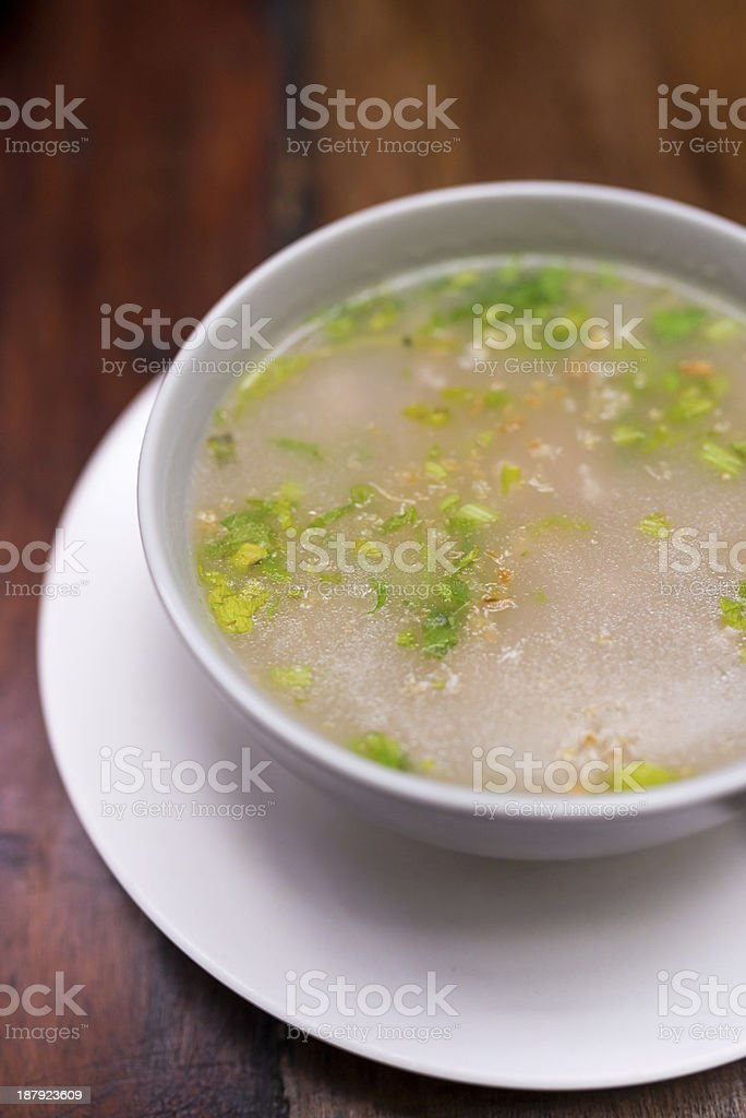Bowl of boiled rice royalty-free stock photo