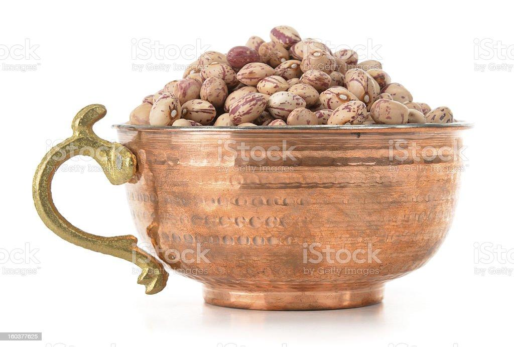 Bowl of Borlotto Beans royalty-free stock photo
