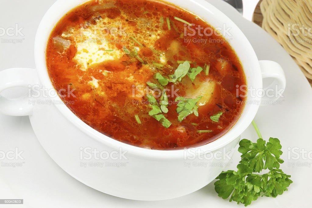 Bowl of borscht royalty-free stock photo