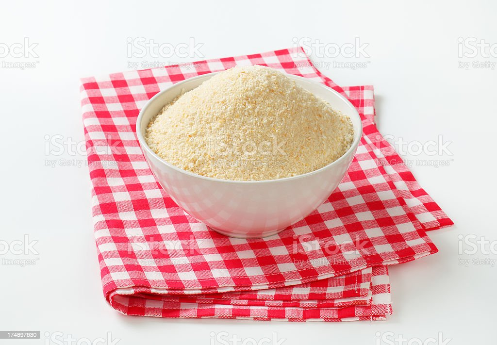 bowl of breadcrumbs royalty-free stock photo