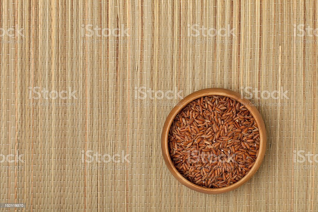 bowl of brown rice royalty-free stock photo