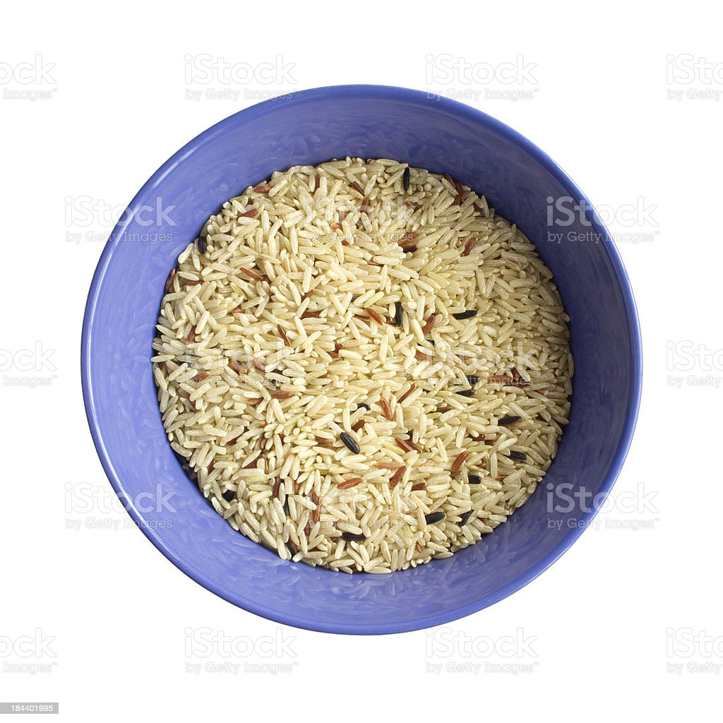 Bowl of Brown Rice, view from top royalty-free stock photo