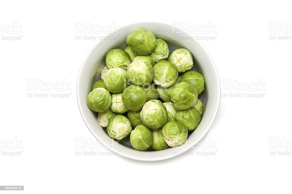 Bowl of Brussel sprouts royalty-free stock photo