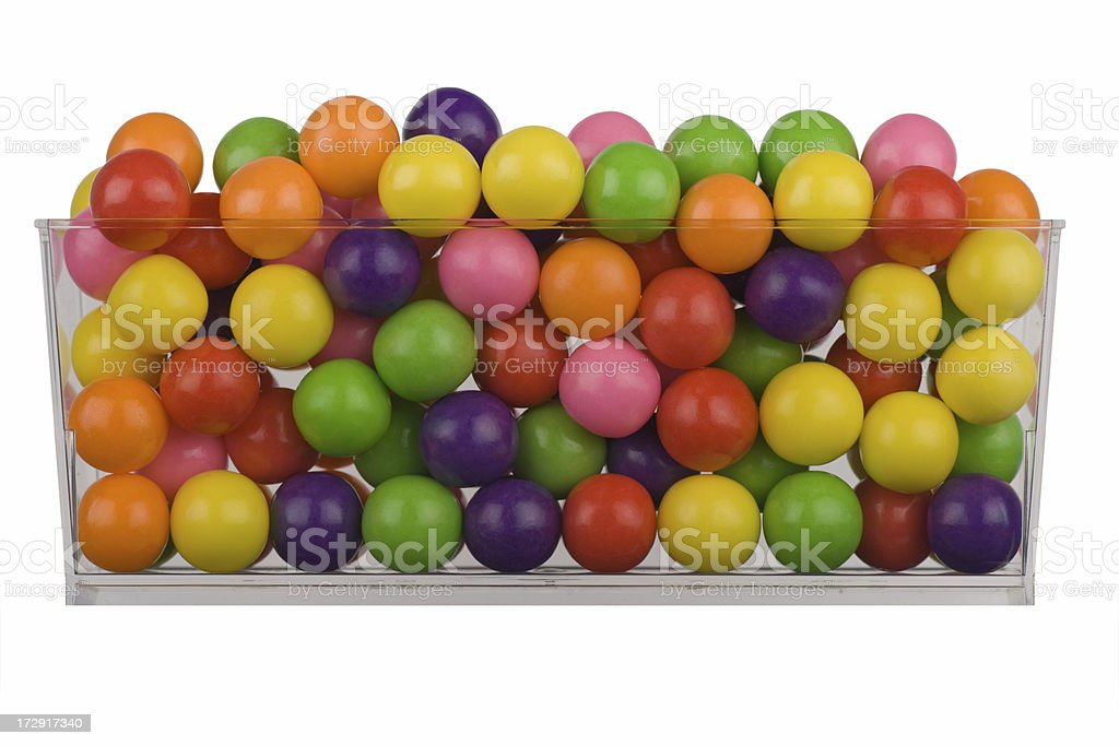 Bowl of bubble gums royalty-free stock photo