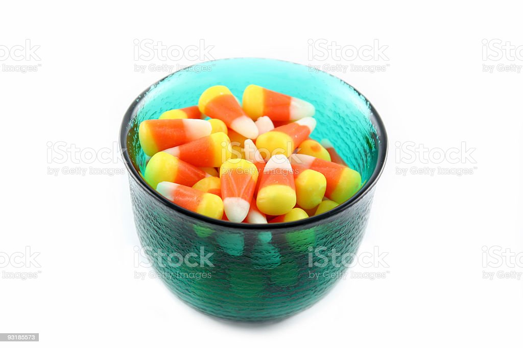 Bowl of Candy Corn royalty-free stock photo