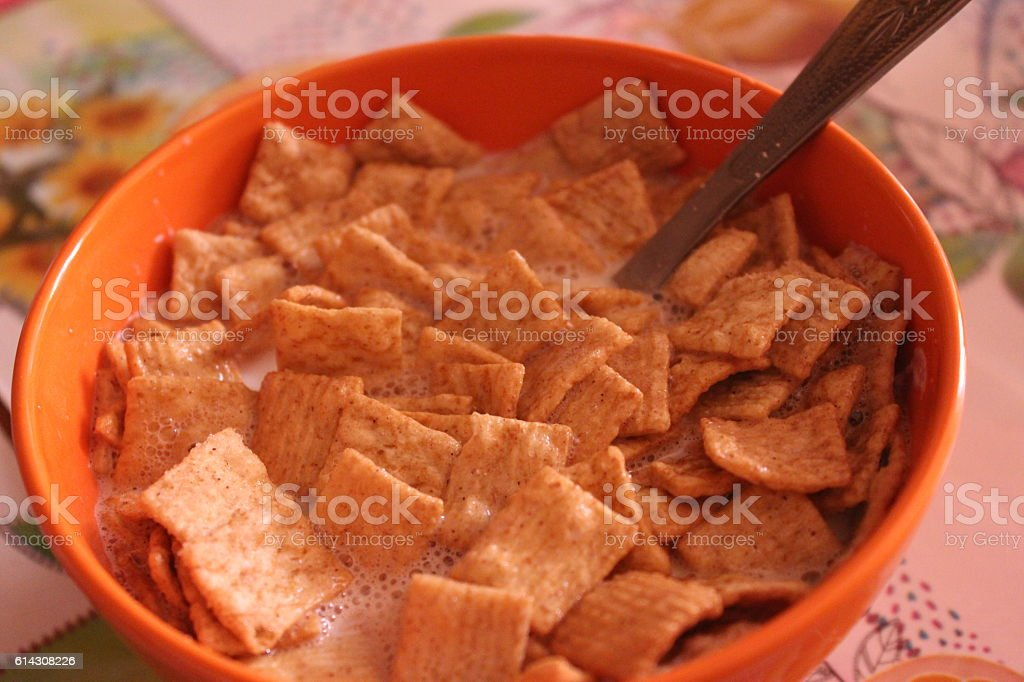 Bowl of cereals stock photo