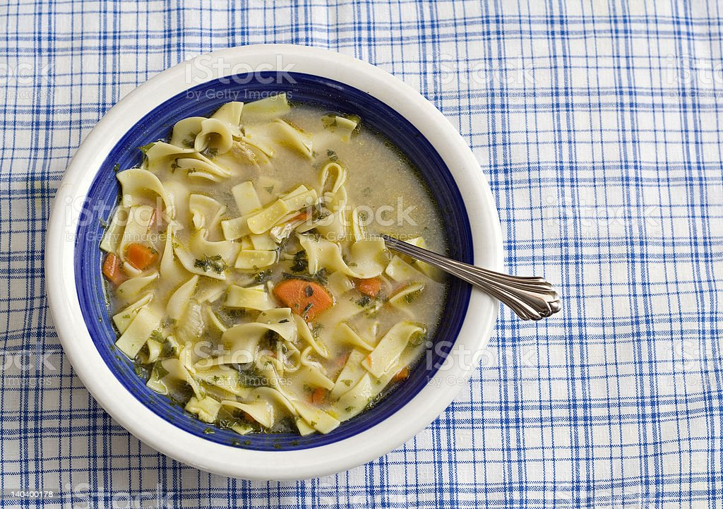 Bowl of Chicken Soup royalty-free stock photo