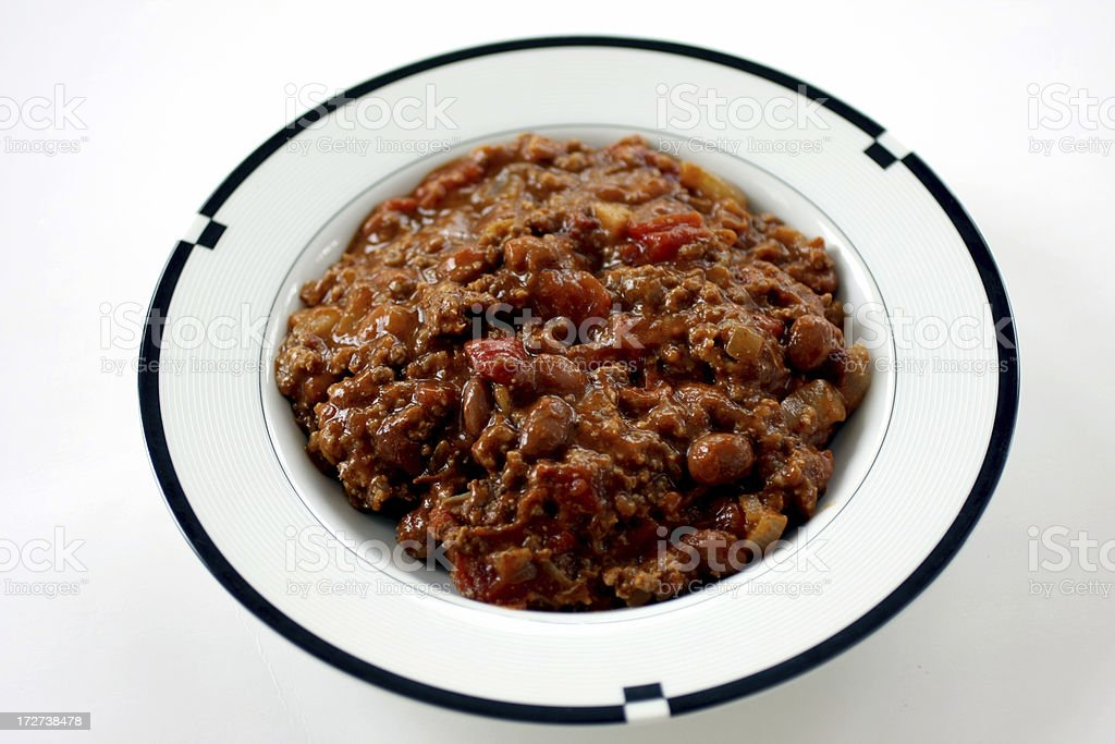 bowl of chili royalty-free stock photo