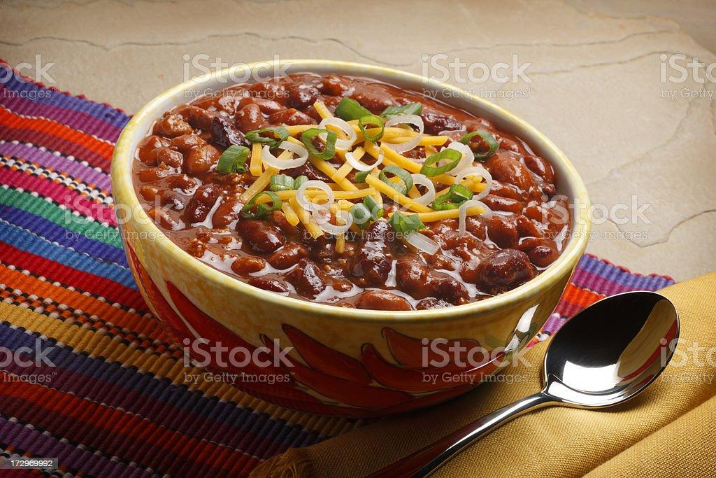 Bowl of Chili stock photo